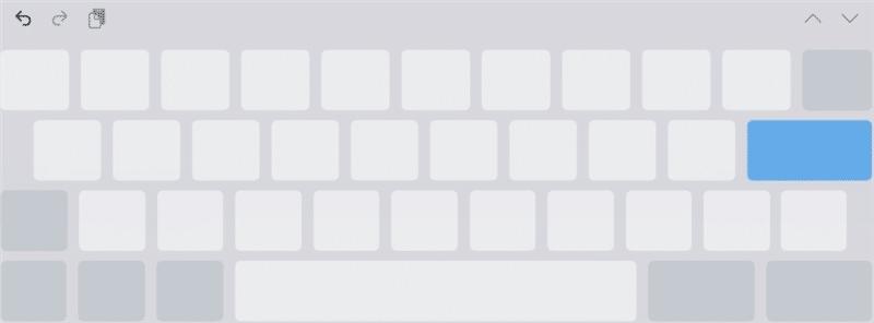 キーボードの文字が真っ白に