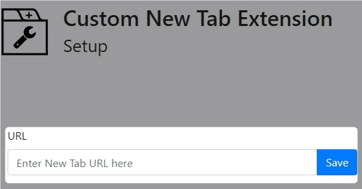 「Custom New Tab」の設定